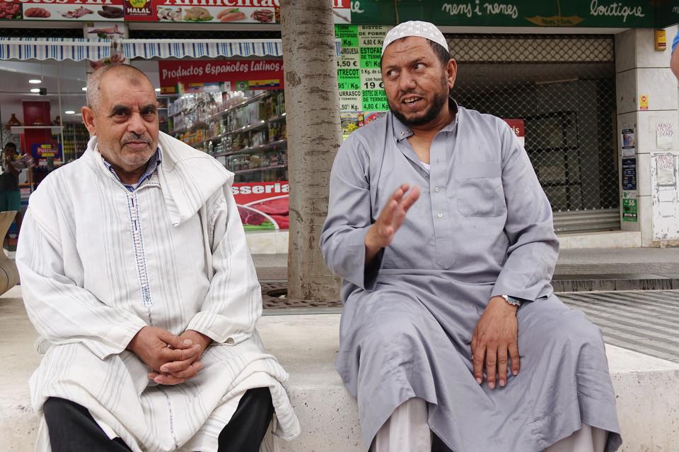 Muslimimiehet Mestafa ja Laiachi.