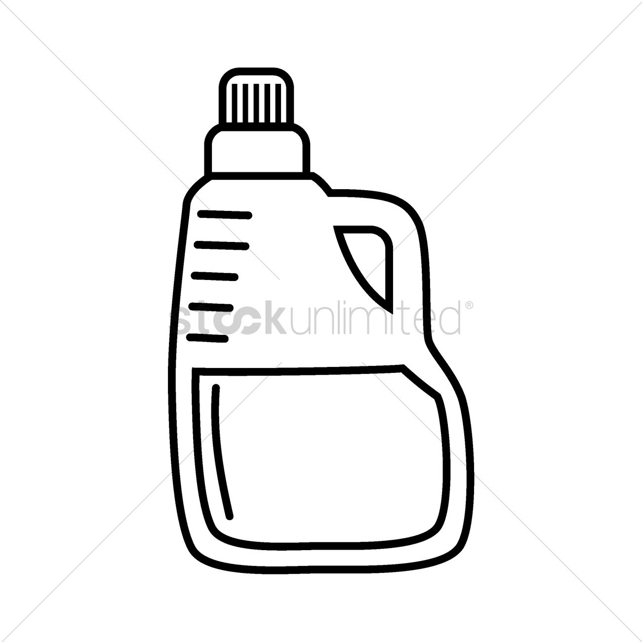 Detergent Bottle Vector Image