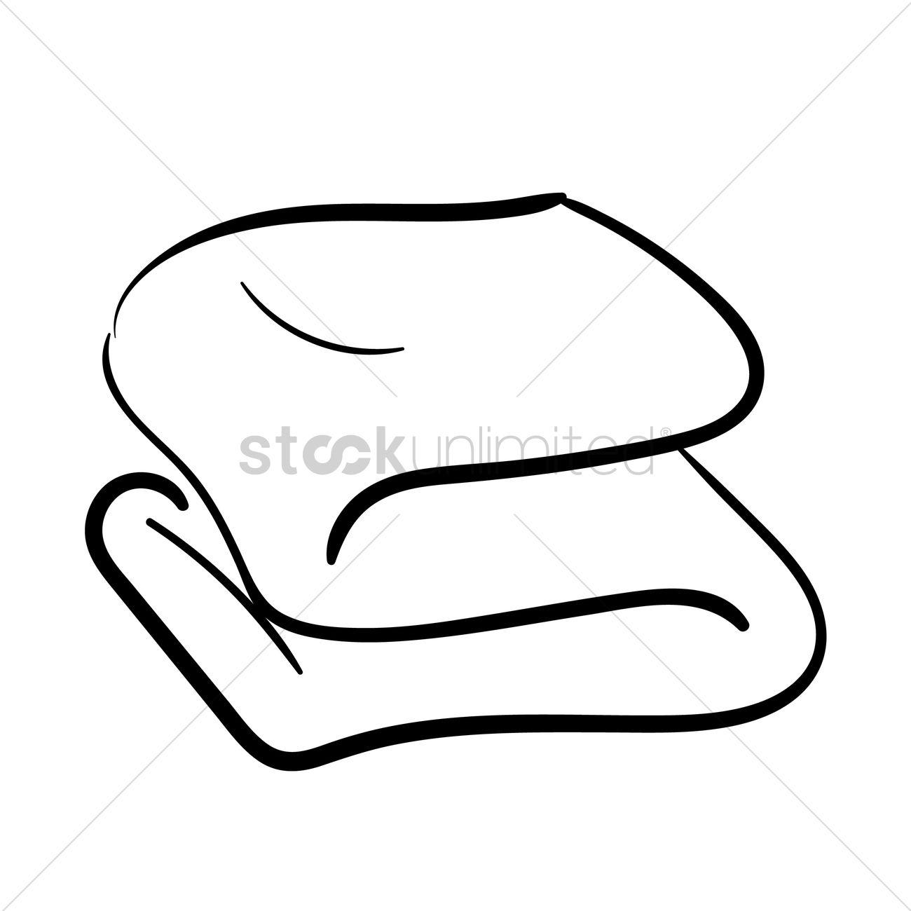 Folded Towel Vector Image