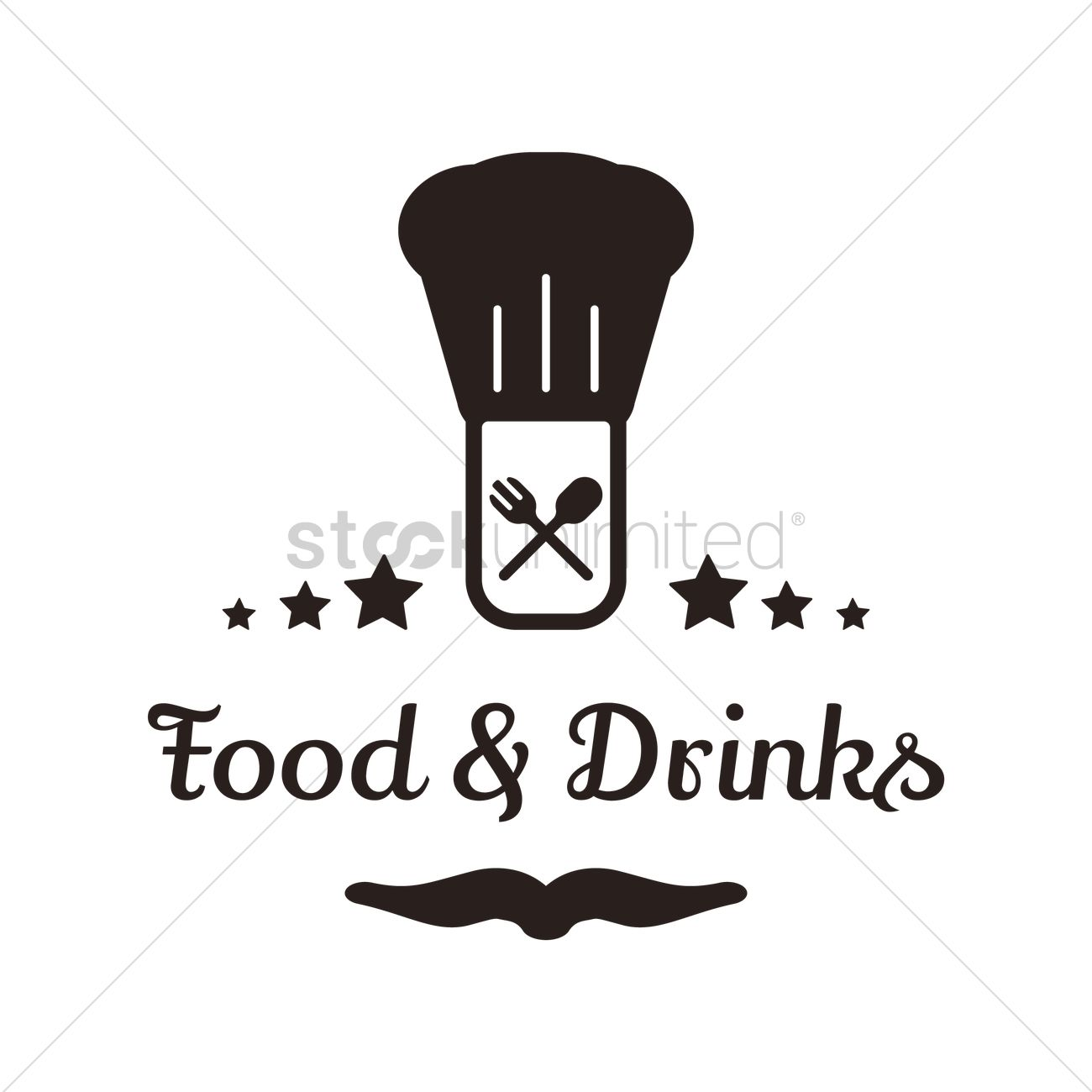 Food And Drinks Menu Design Vector Image
