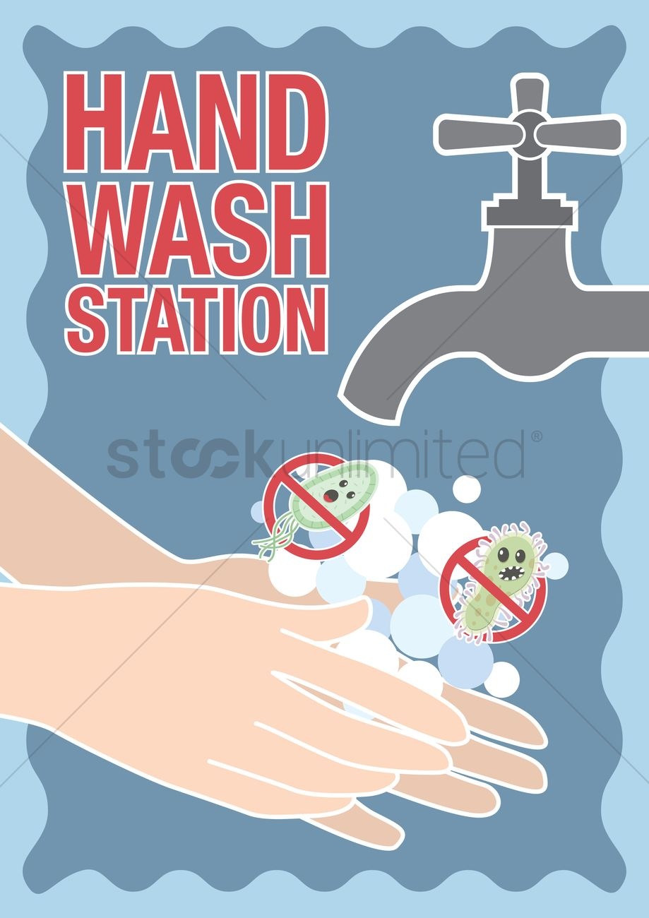 hand wash station poster vector image