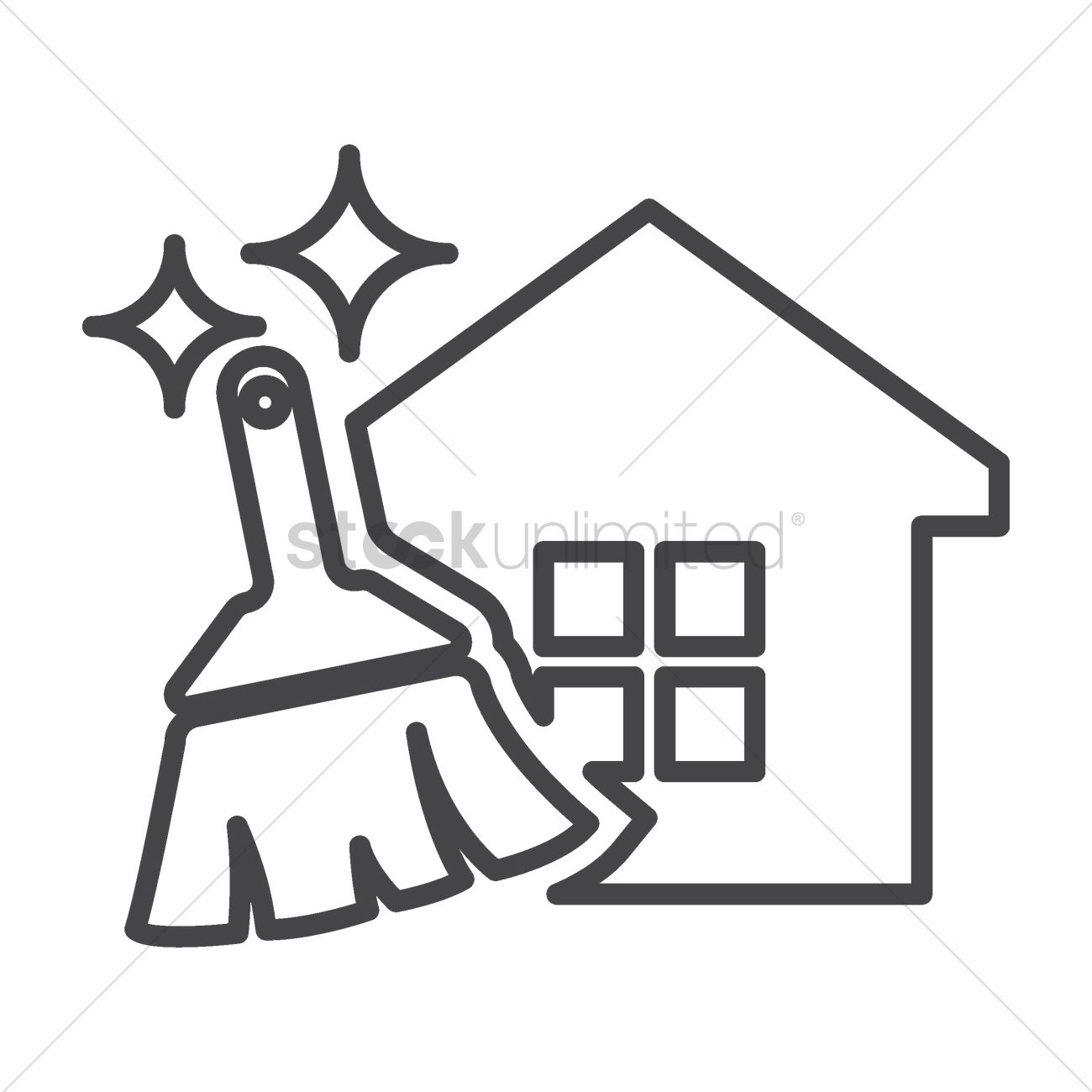 House Chores Icon Vector Image