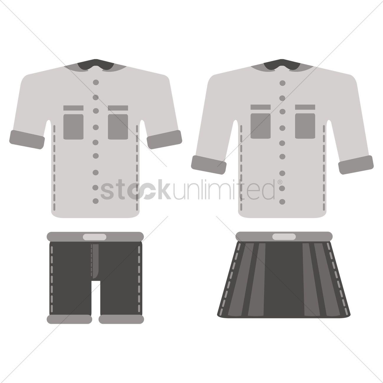 School Uniform Vector Image