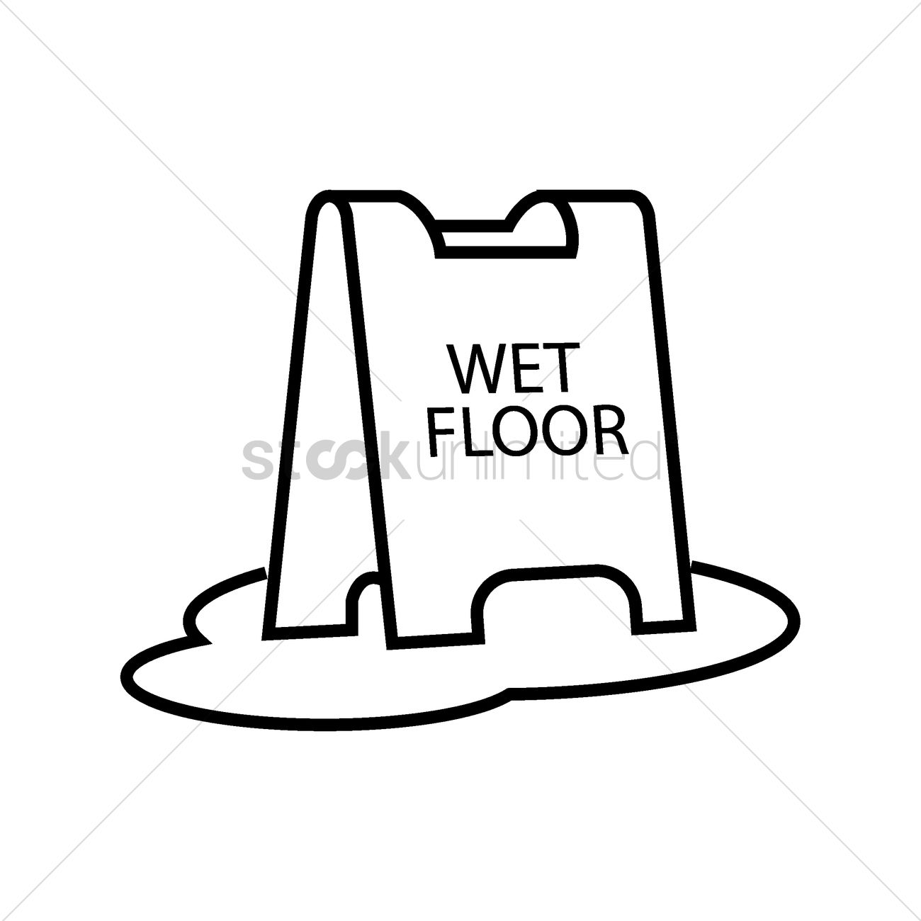 Wet Floor Stand Vector Image