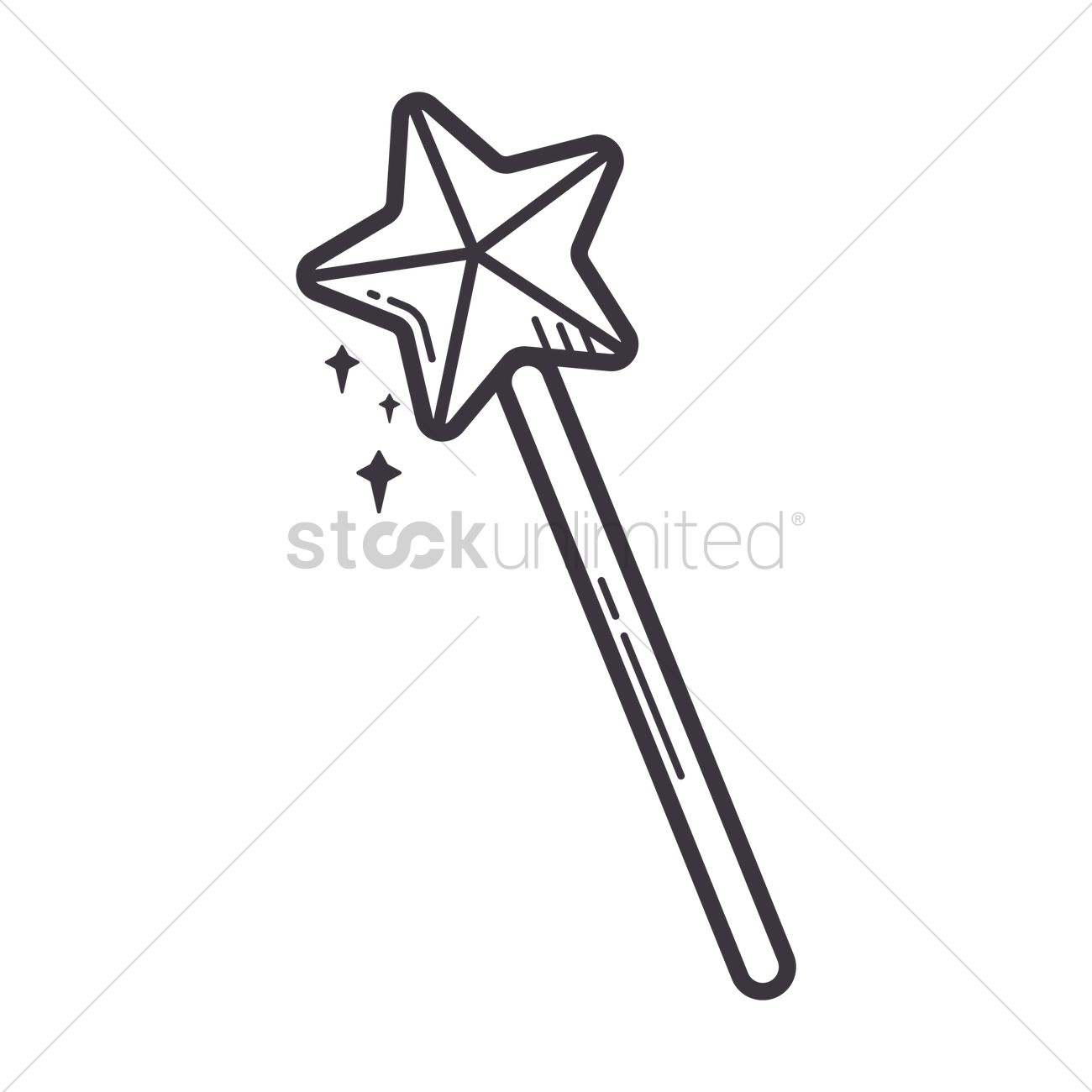 Free Angel Magic Wand Vector Image