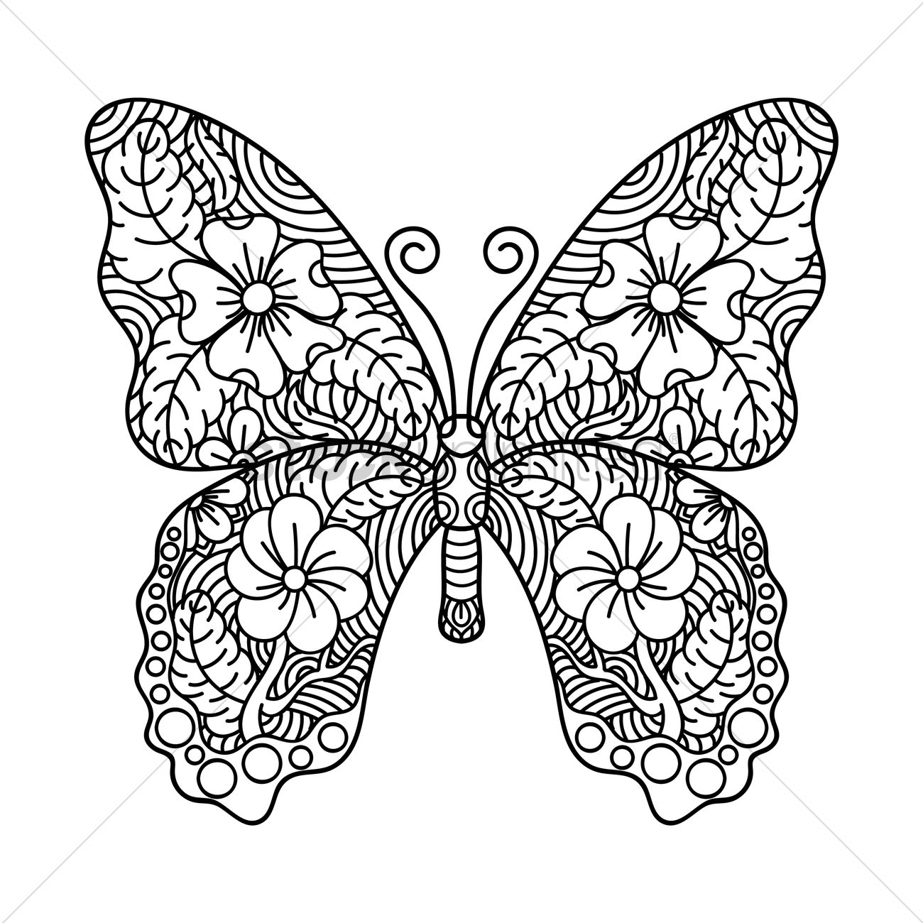 Intricate Butterfly Design Vector Image