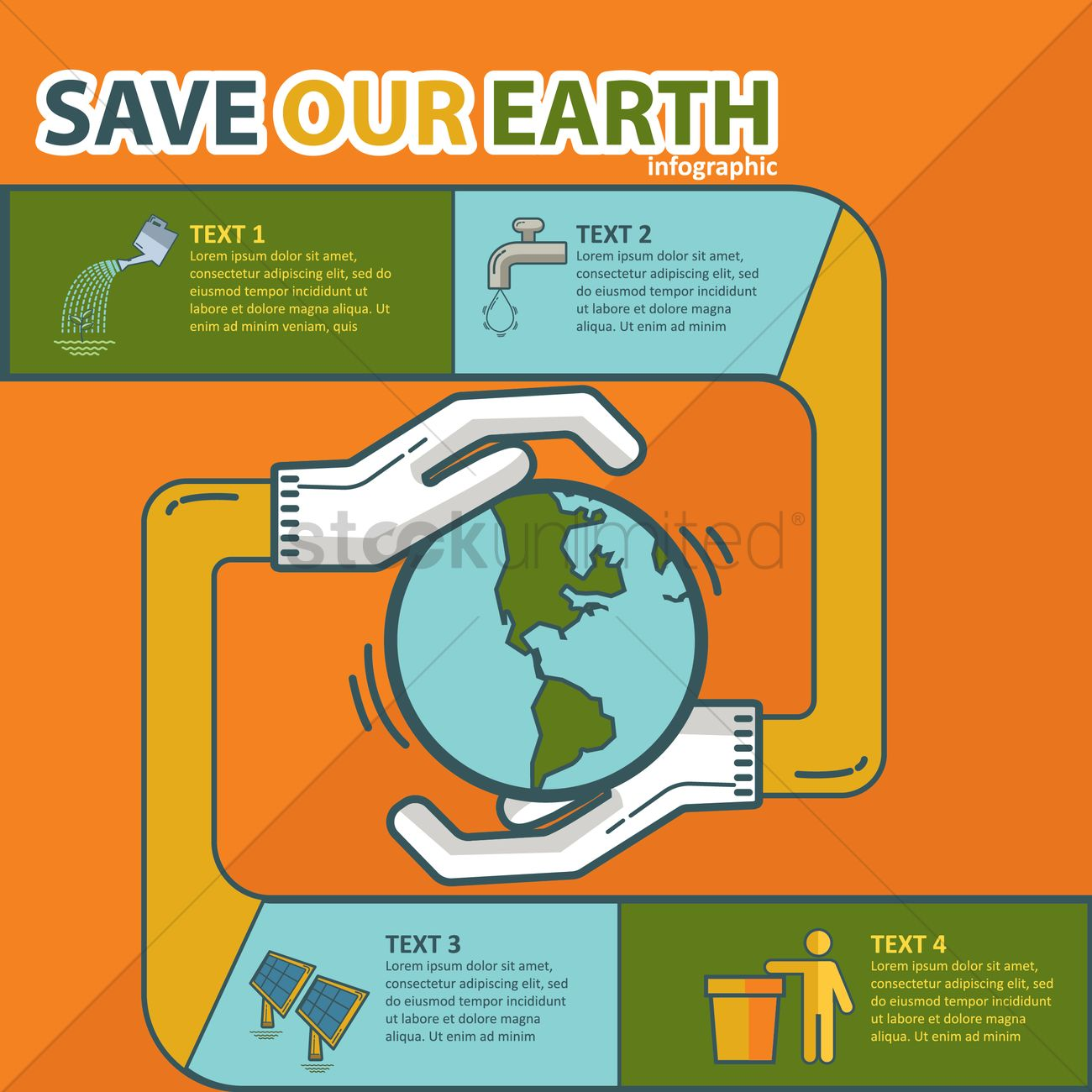 Save Earth Infographic Vector Image