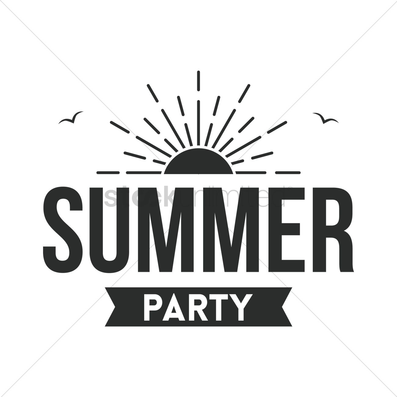 Summer Party Label Vector Image