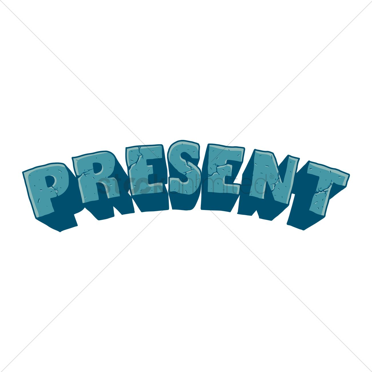 Free Text With The Word Present Vector Image