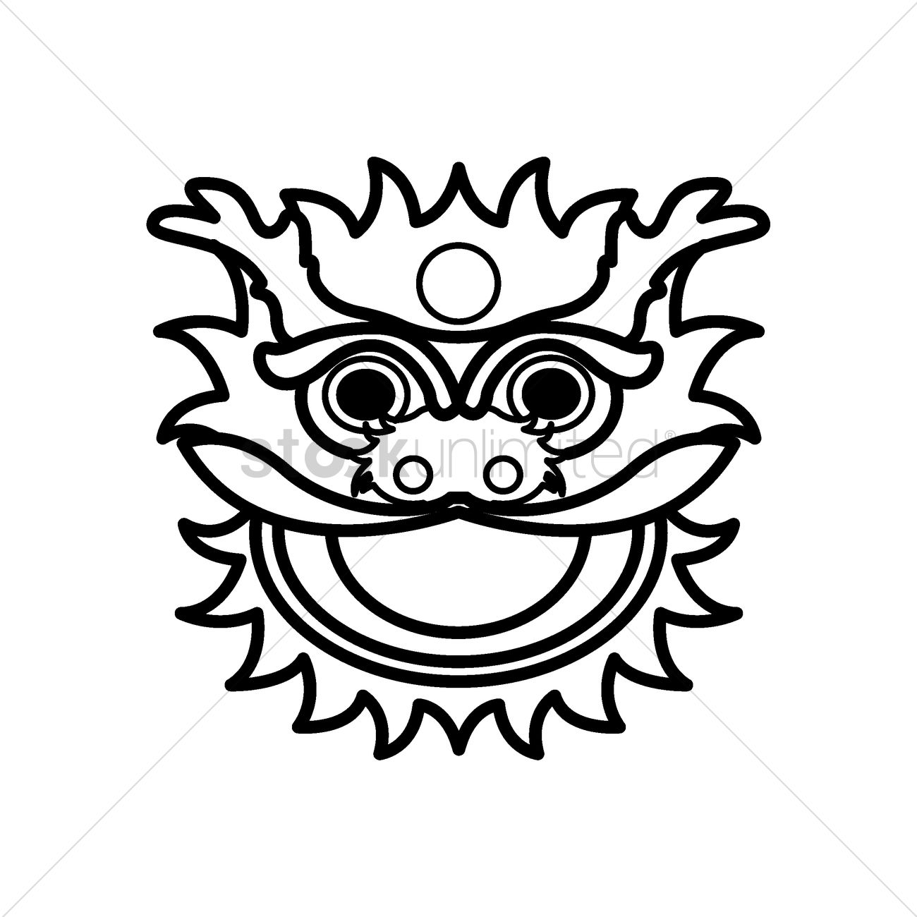 Chinese Lion Dance Head Vector Image