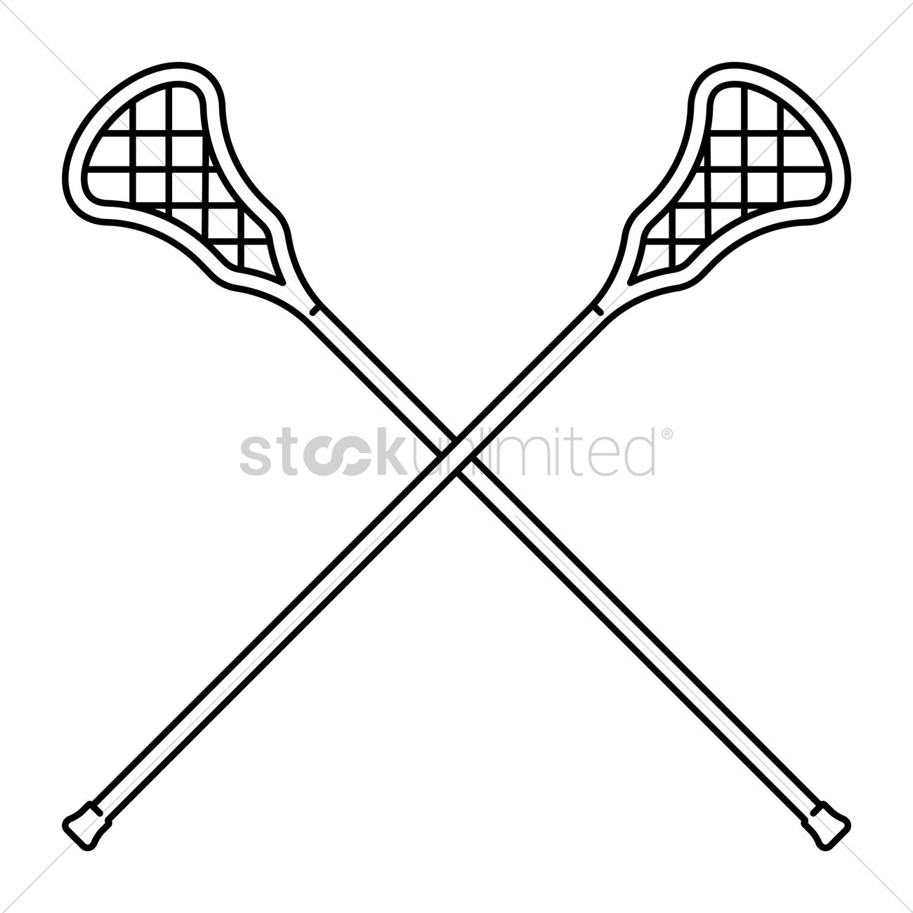 Crossed Lacrosse Stick Vector Image