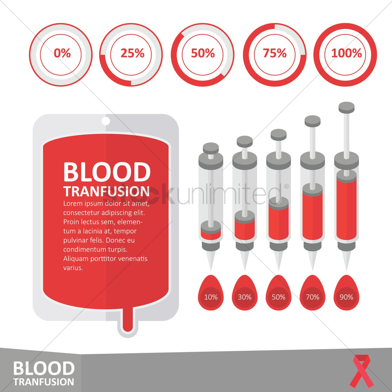 Infographic Of Blood Transfusion Vector Image