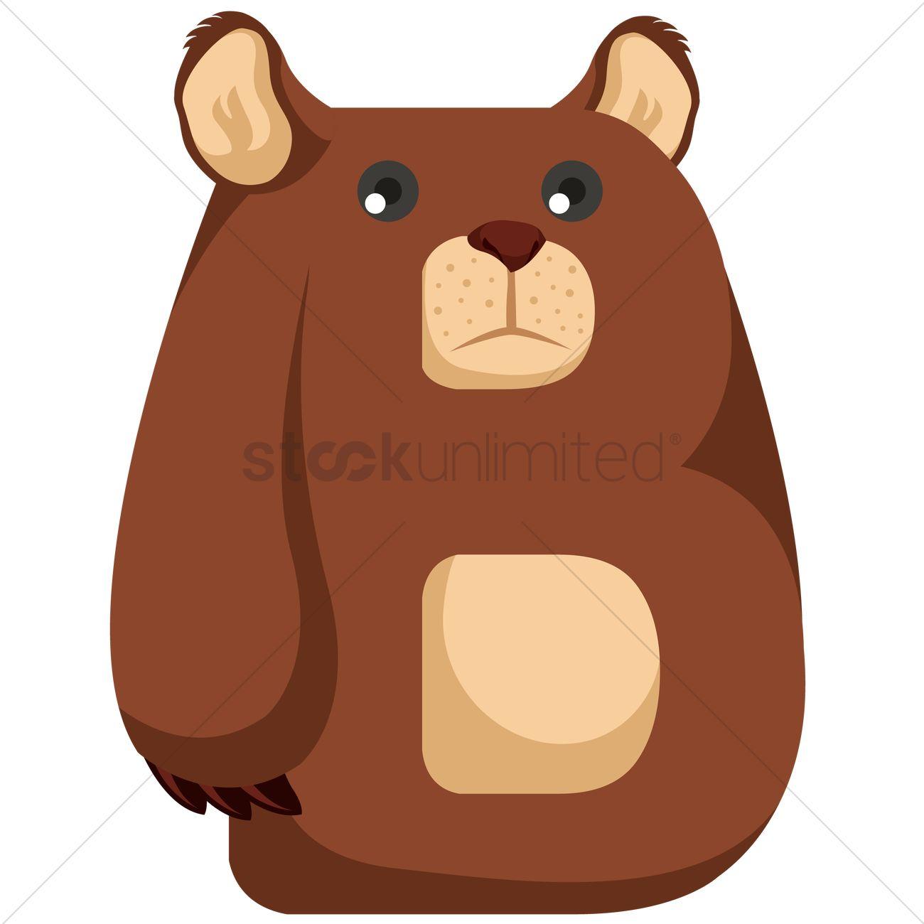 Letter B For Bear Vector Image