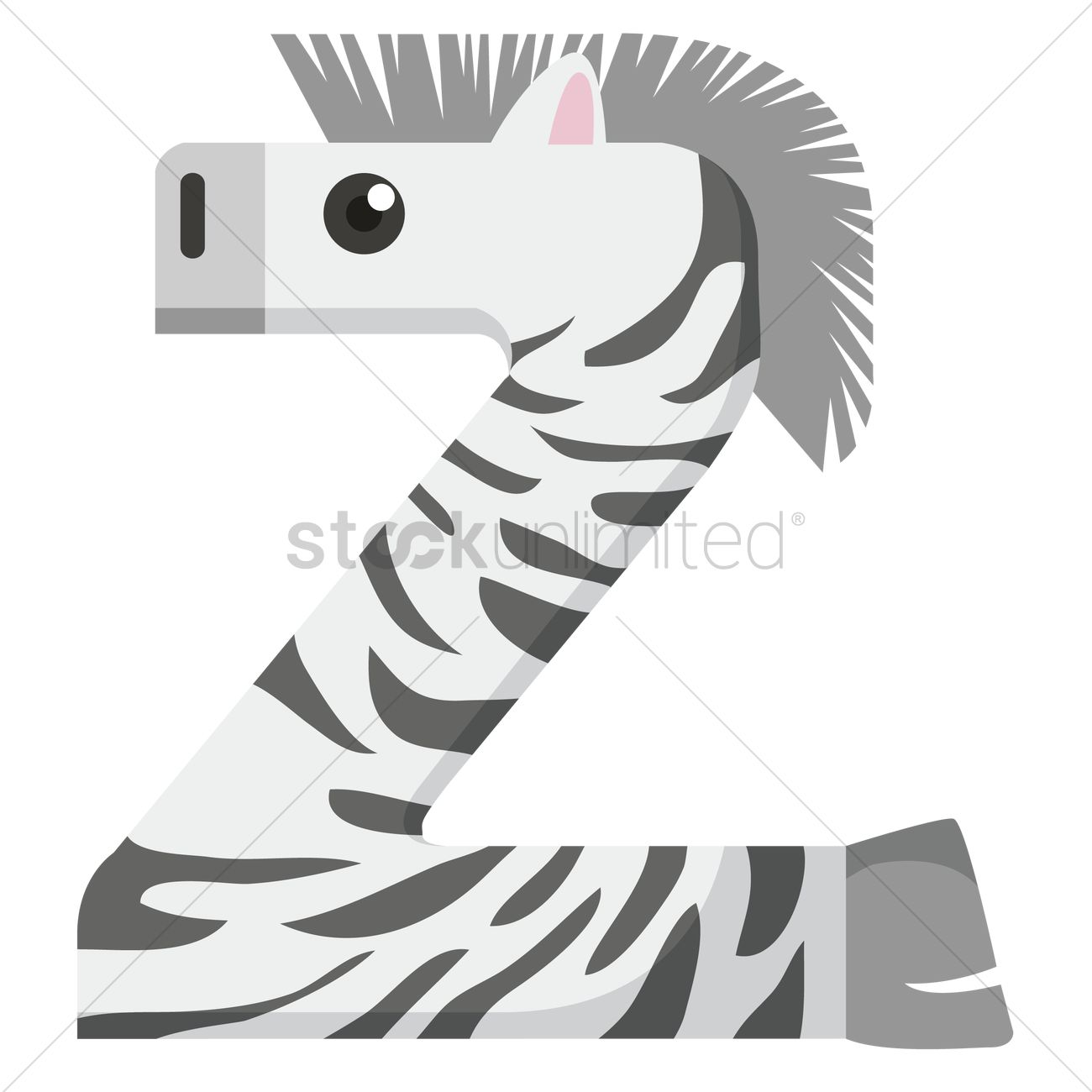 Letter Z For Zebra Vector Image