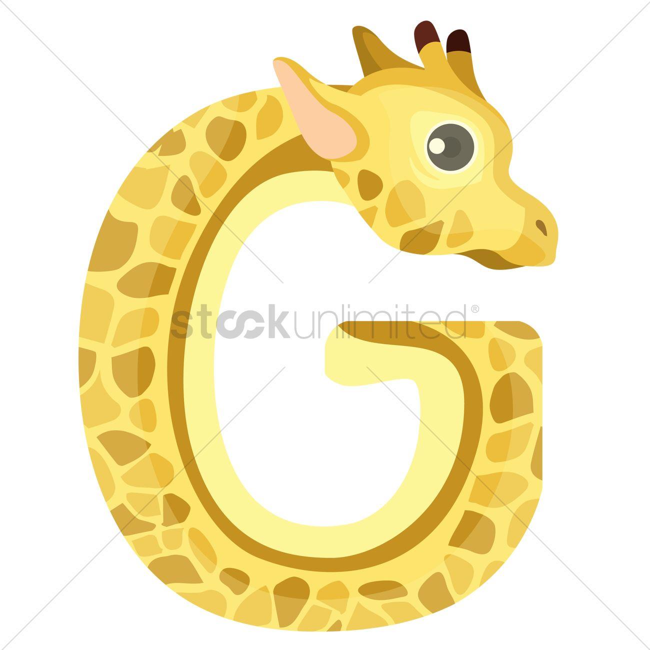 Letter G For Giraffe Vector Image