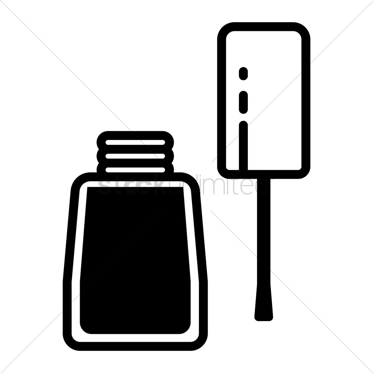 Free Nail Polish Bottle Vector Image