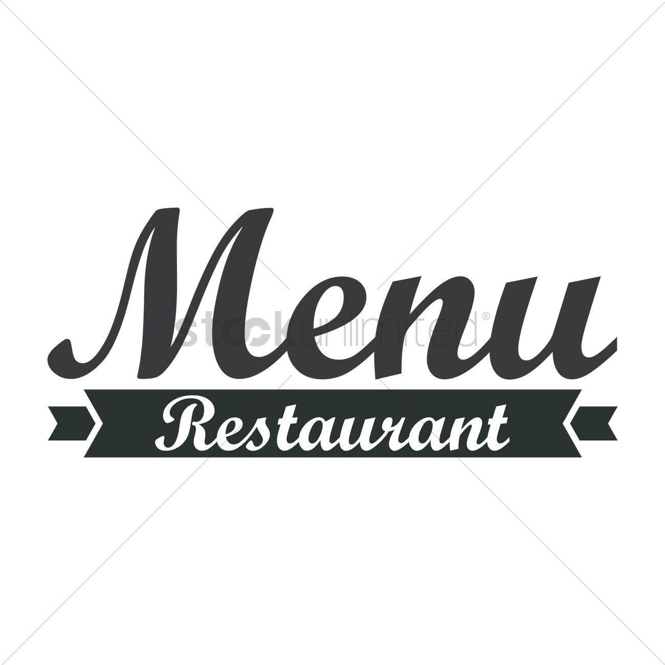 Restaurant Menu Logo Icon Vector Image
