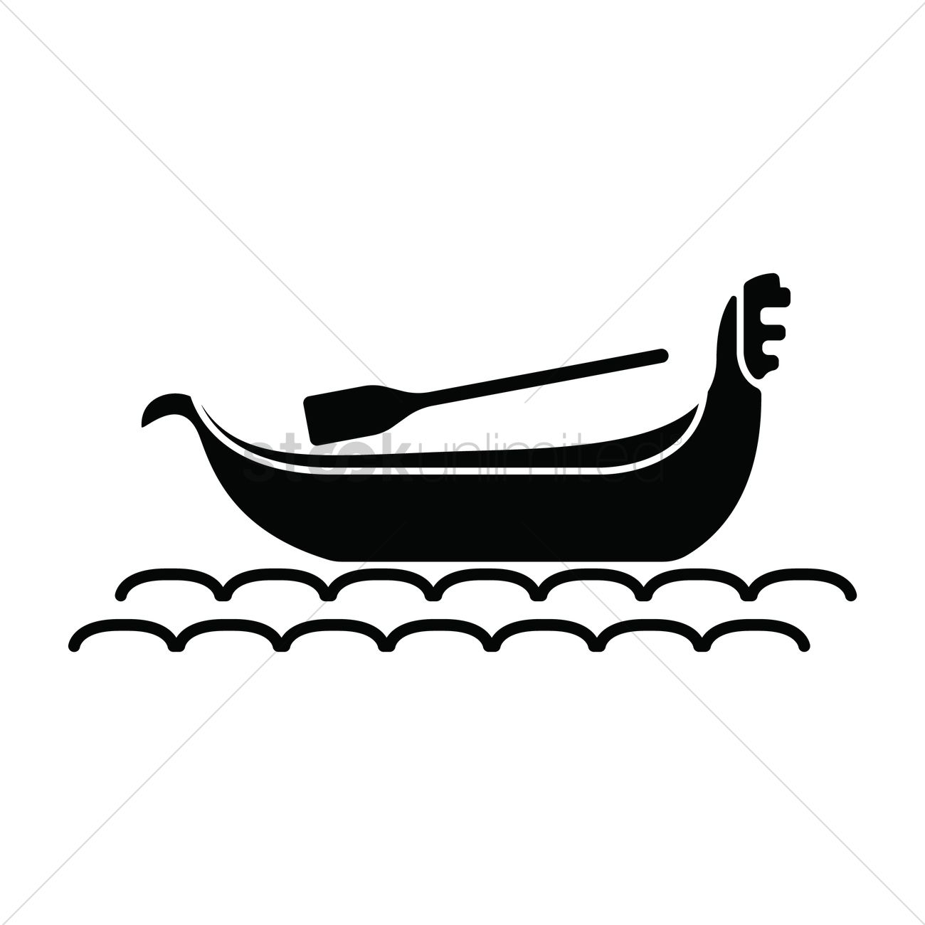 Venetian Gondola Boat Vector Image
