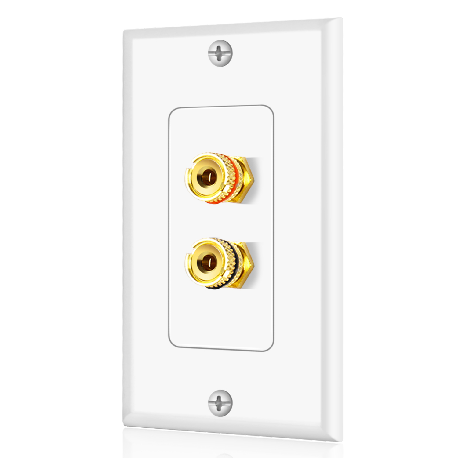 Home Theater Speaker Wall Plate Outlet 1 Speaker Panel