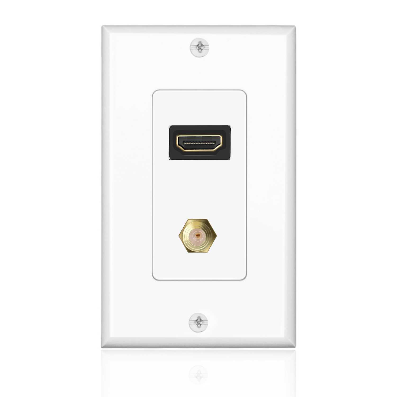 Hdmi F Connector Wall Plate Face Cover 4k P Outlet