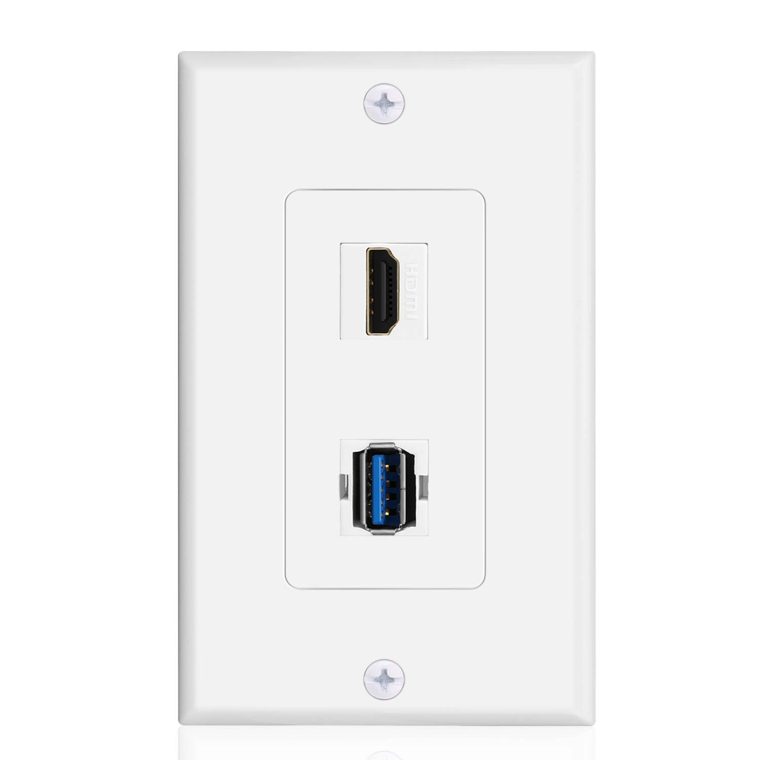 Usb Hdmi Outlet Wall Plate