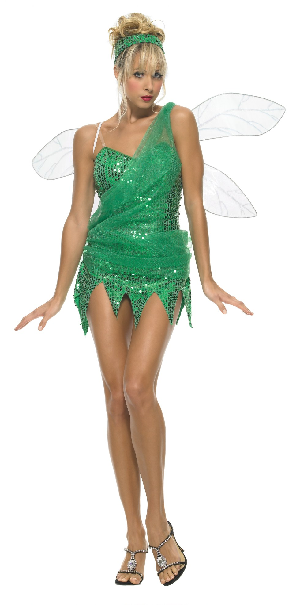 Sequined Sprite Adult Costume - Large