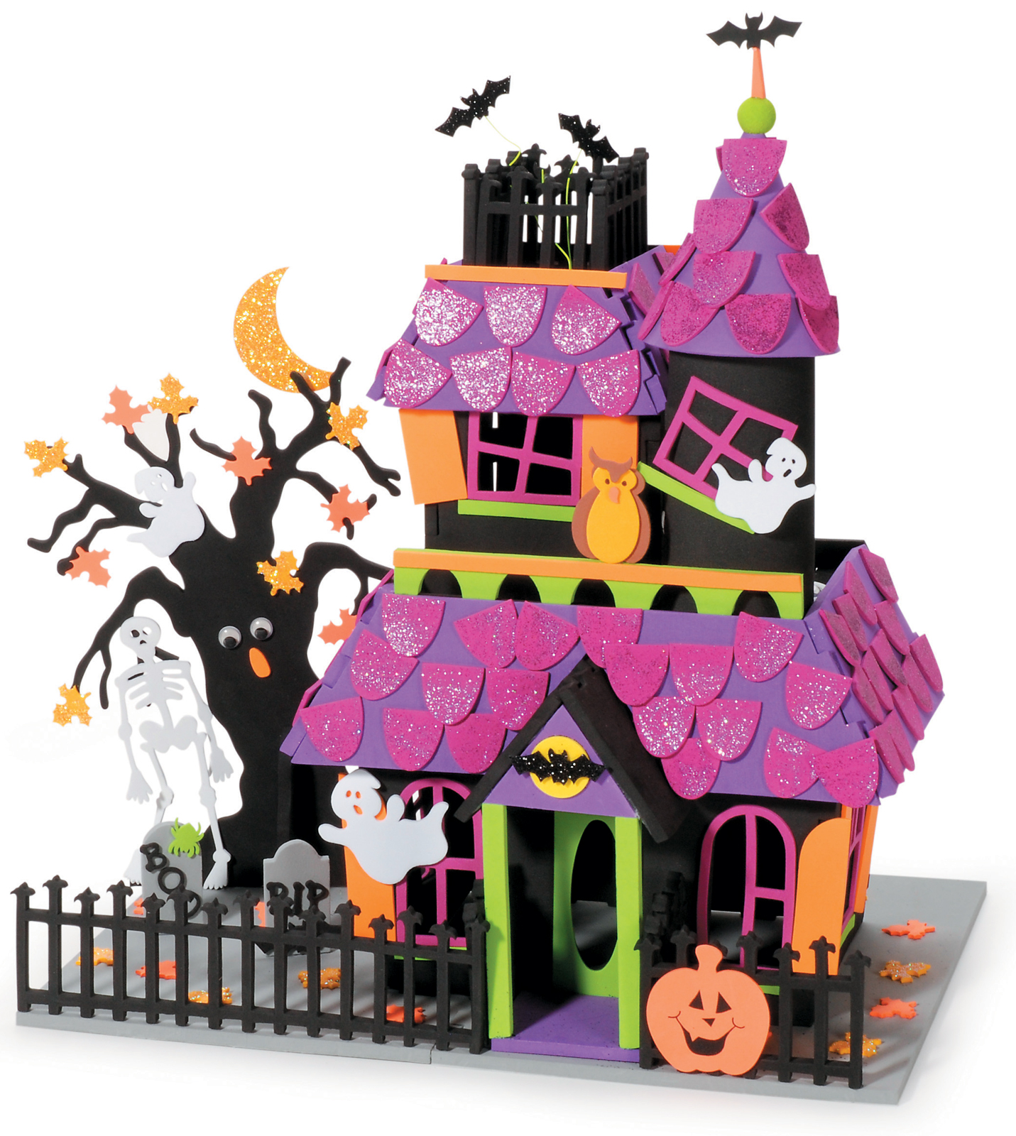 Giant Haunted House Halloween Foam Activity
