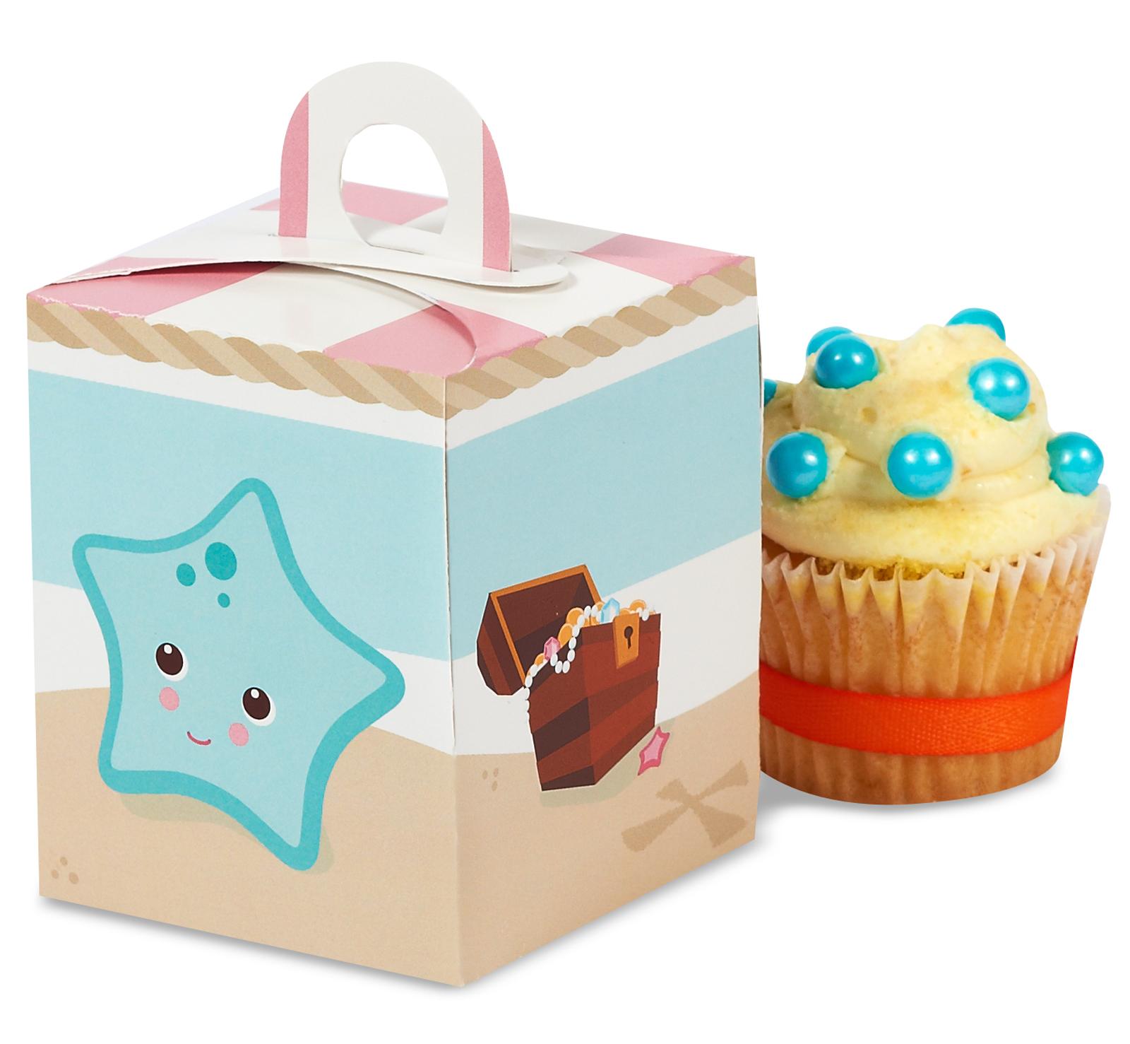Pretty Pirates Party Cupcake Boxes