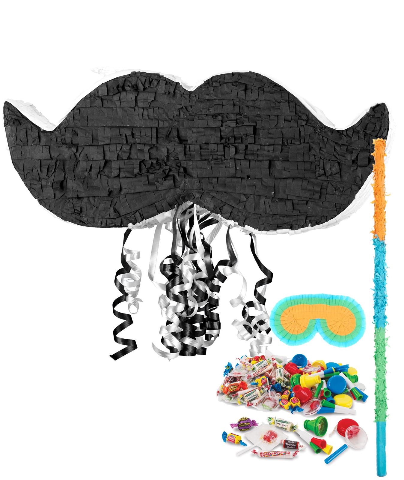 Mustache+Pinata+Kit