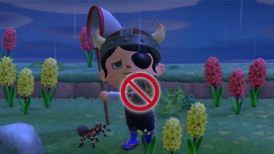 Vorbei ist die Zeit der Vogelspinne in Animal Crossing: New Horizons.