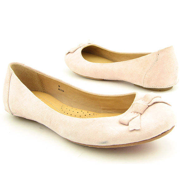 BORN Suede Flats Flats Shoes Pink Womens