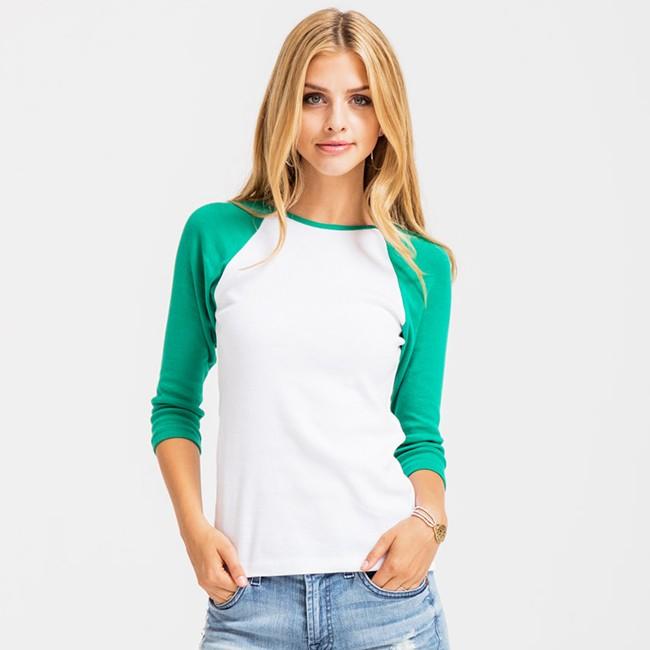Custom 3 4 Long Sleeve Baseball Shirts