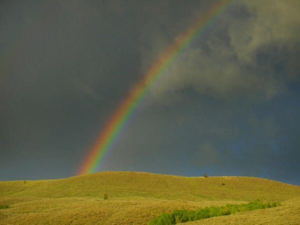 Rainbow over the sagebrush in Idaho's Caribou Targhee NF.
