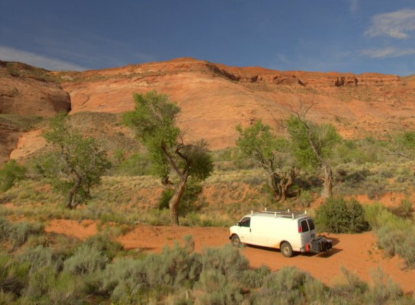 We found a beautiful campsite right on 95 very close to the North Wash River.