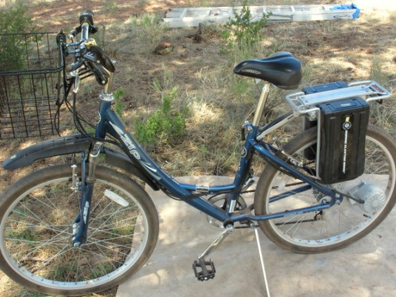This is the Currie TrailZ electric bike I bought last year. It sold me on the practicality and usefulness of electric bikes!