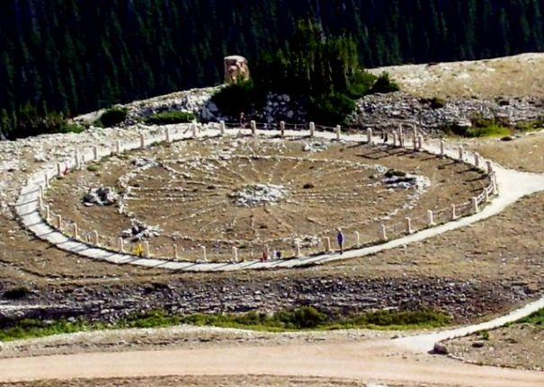 A photo of the Medicine Wheel from it's Wikipedia page.