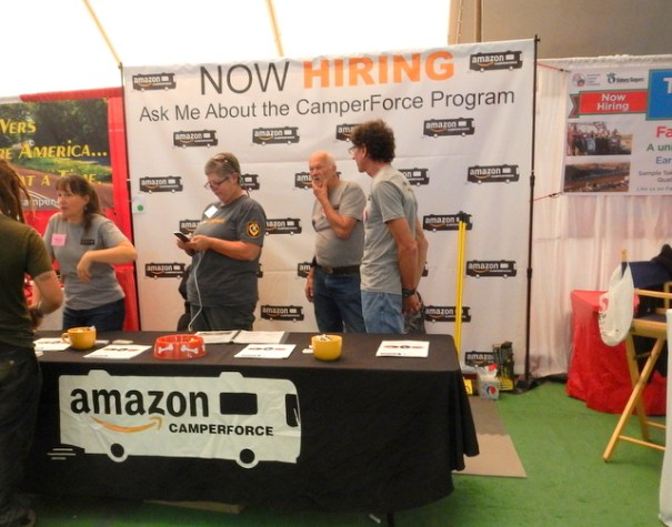 At the RTR you can begin go by he Amaon booth and begin the process of getting a job at Amazon for the Holidays.