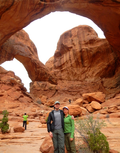 Robert and Deb at Double-Arch in Arches NP.