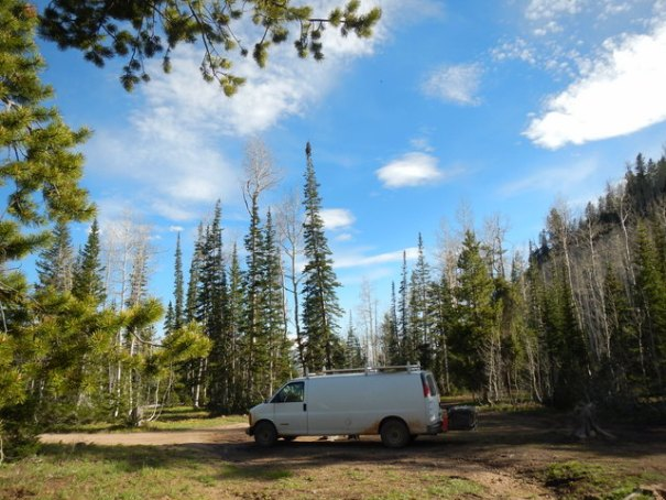 This is my first, upper camp near Kamas.