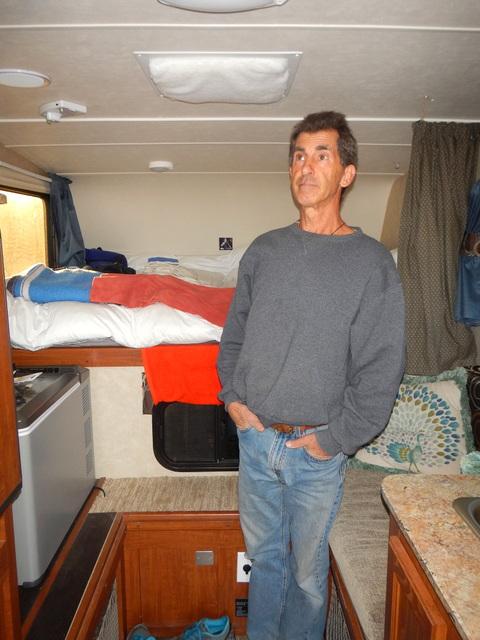 His camper has has lots of headroom!