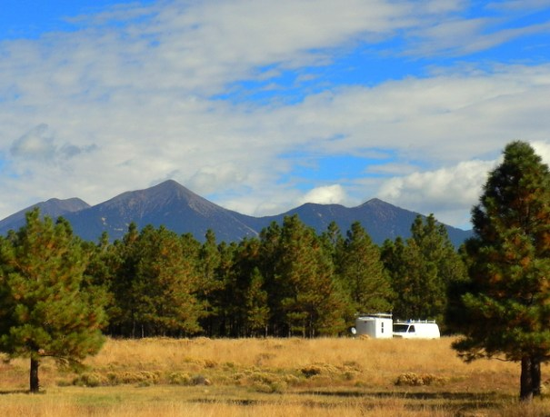 My camp on A-1 Mountain Road under the shadow Mt. Humphrey, the tallest mountain in AZ.