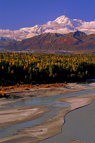 Mt. Mckinley from a Viewing area along the Parks Highway.