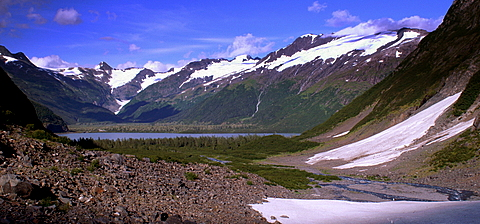 If you are a hiker, we will stand in exactly this spot on a glacier.