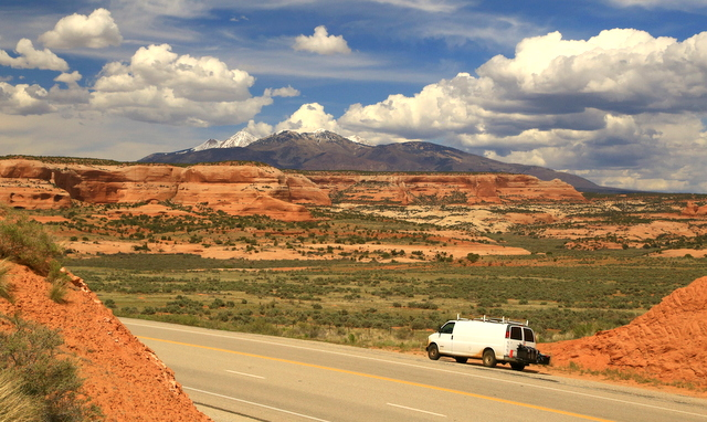 The drive along 191 just south of Moab.