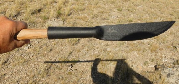 The Cold Steel Bushman  set up as a spear.