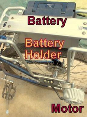 Bike-Battery-holder