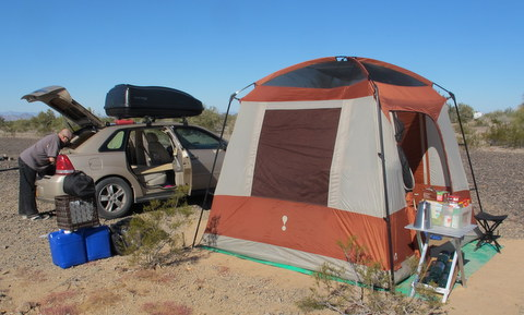 A friend lived in a tent out of his Chevy Malibu. The desert wind was too much for him and the next year he was in a van. & Cheap RV Living.com -Prison Break Part II: How to live in a Car ...
