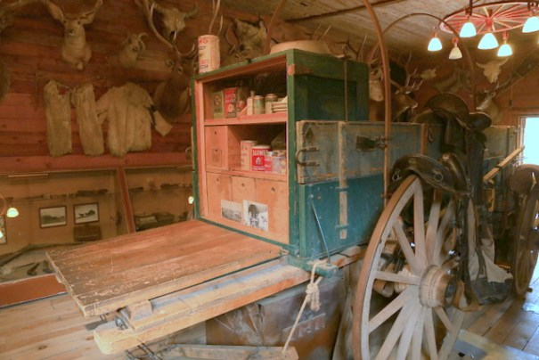The back end of the chuck wagon.