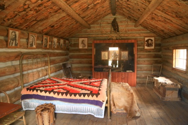 The cabin Curley lived in after the end of the Indian Wars.