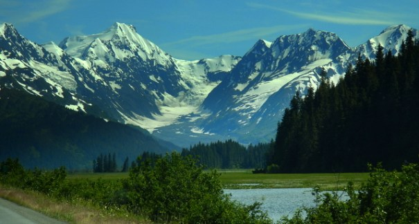 I took this photo 2 days ago. It's looking back toward Portage glacier. You can't see it in this shot.
